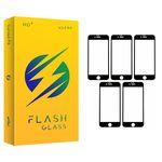 محافظ صفحه نمایش فلش مدل +HD مناسب برای گوشی موبایل اپل IPhone 6/6s بسته 5 عددی