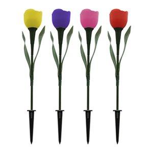 چراغ پارکی خورشیدی مدل Tulip بسته 4 عددی