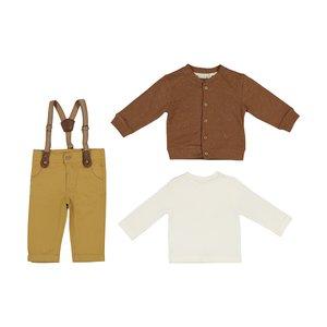 ست 3 تکه لباس نوزادی پسرانه مونا رزا مدل 2141136-34