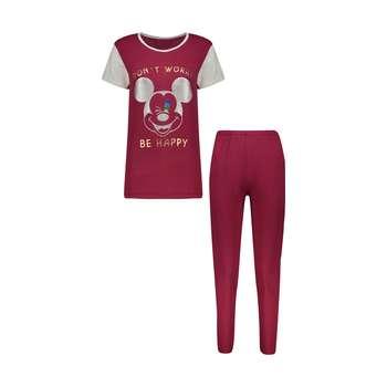 ست تی شرت و شلوار زنانه مدل 358135236