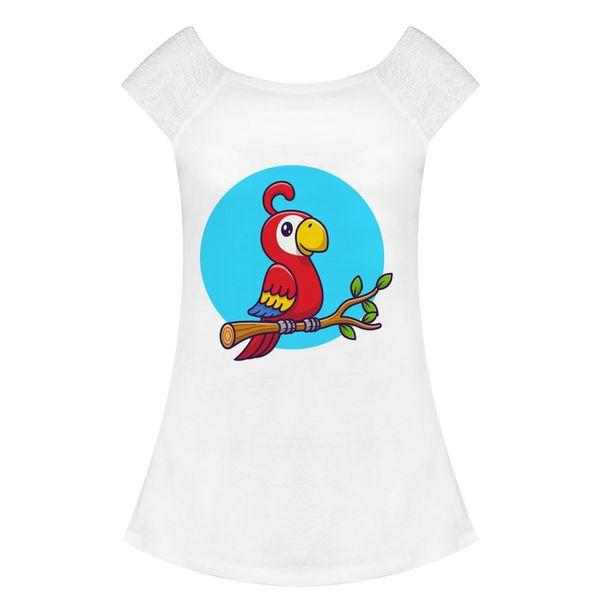 تی شرت زنانه مدل طوطی کد f1546y