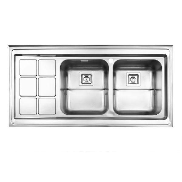 سینک ظرفشویی استیل البرز مدل 761 روکار
