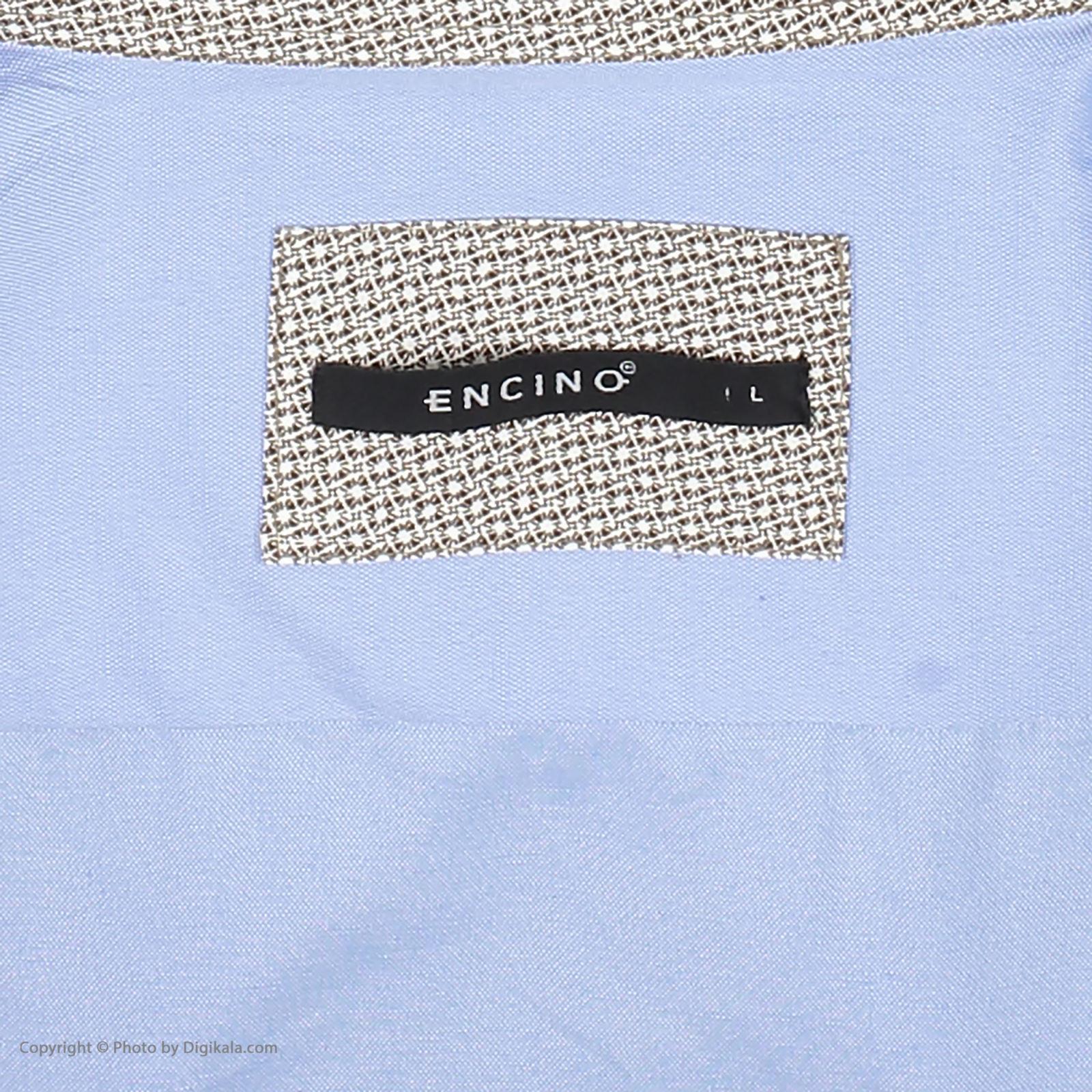 پیراهن آستین کوتاه مردانه ان سی نو مدل جرارد رنگ آبی -  - 5