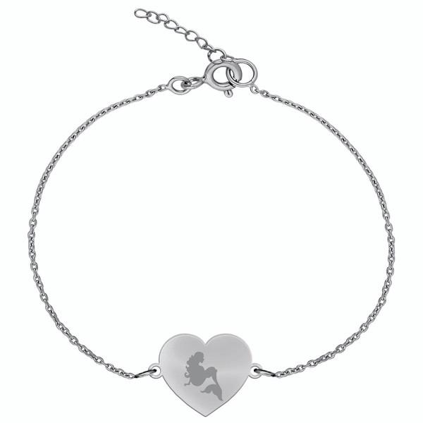 دستبند نقره زنانه ترمه 1 مدل پری دریایی کد DN 1072