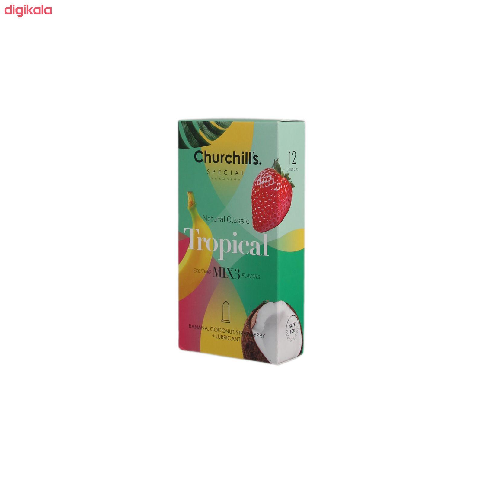 کاندوم چرچیلز مدل Tropical بسته 12 عددی main 1 1