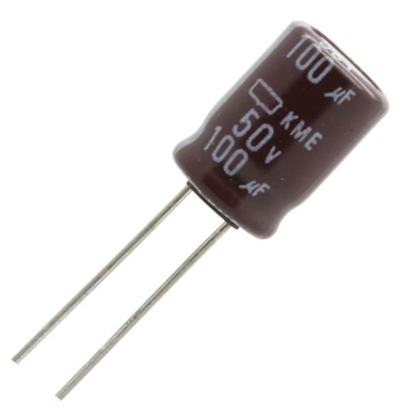 خازن الکترولیت 100 میکروفاراد کد 150 بسته 4 عددی