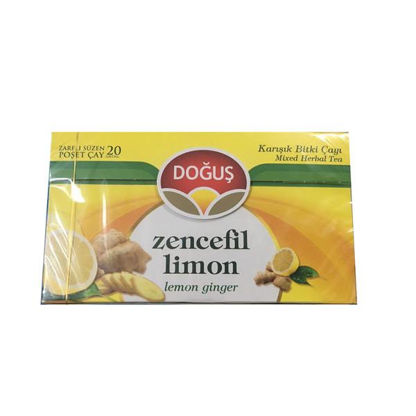 دمنوش لیمو و زنجبیل دوغوش بسته 20 عددی