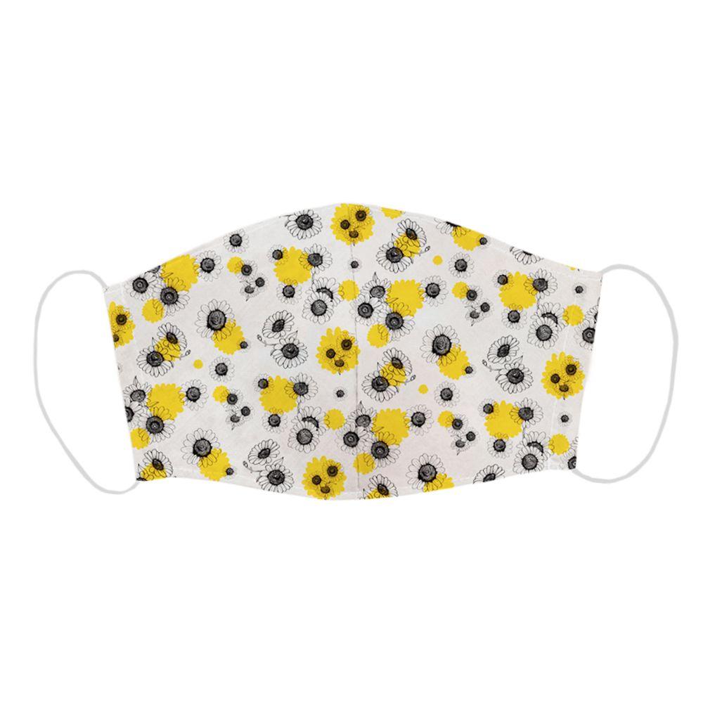 تصویر ماسک تزیینی طرح گل آفتاب گردان مدل 050