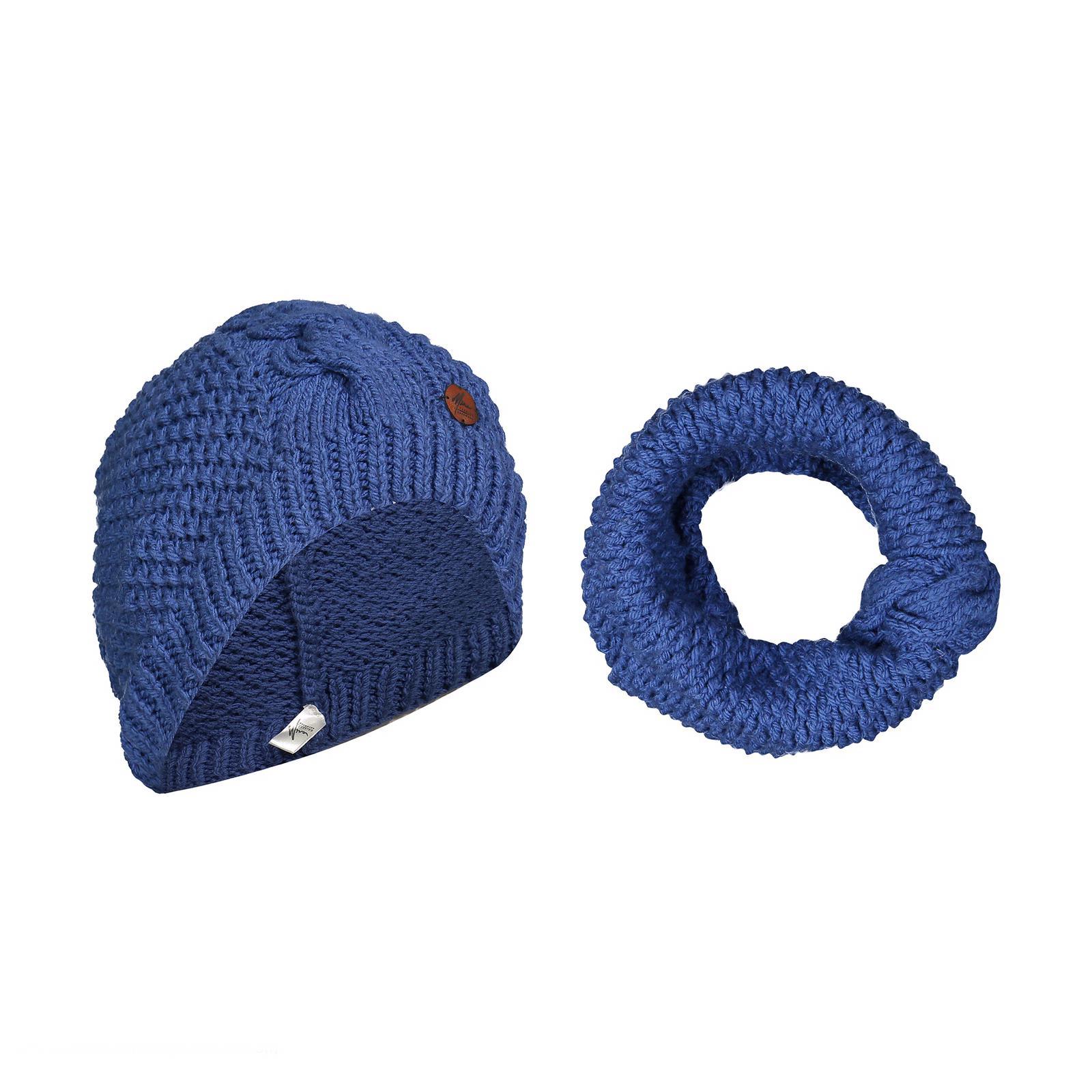 ست کلاه و شال گردن بافتنی میرافشن مدل Azure