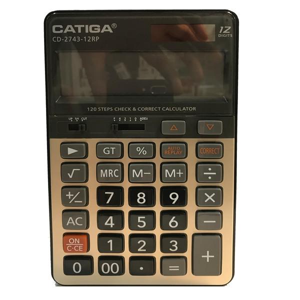 ماشین حساب کاتیگا مدل CD-2743-12RP کد 143902