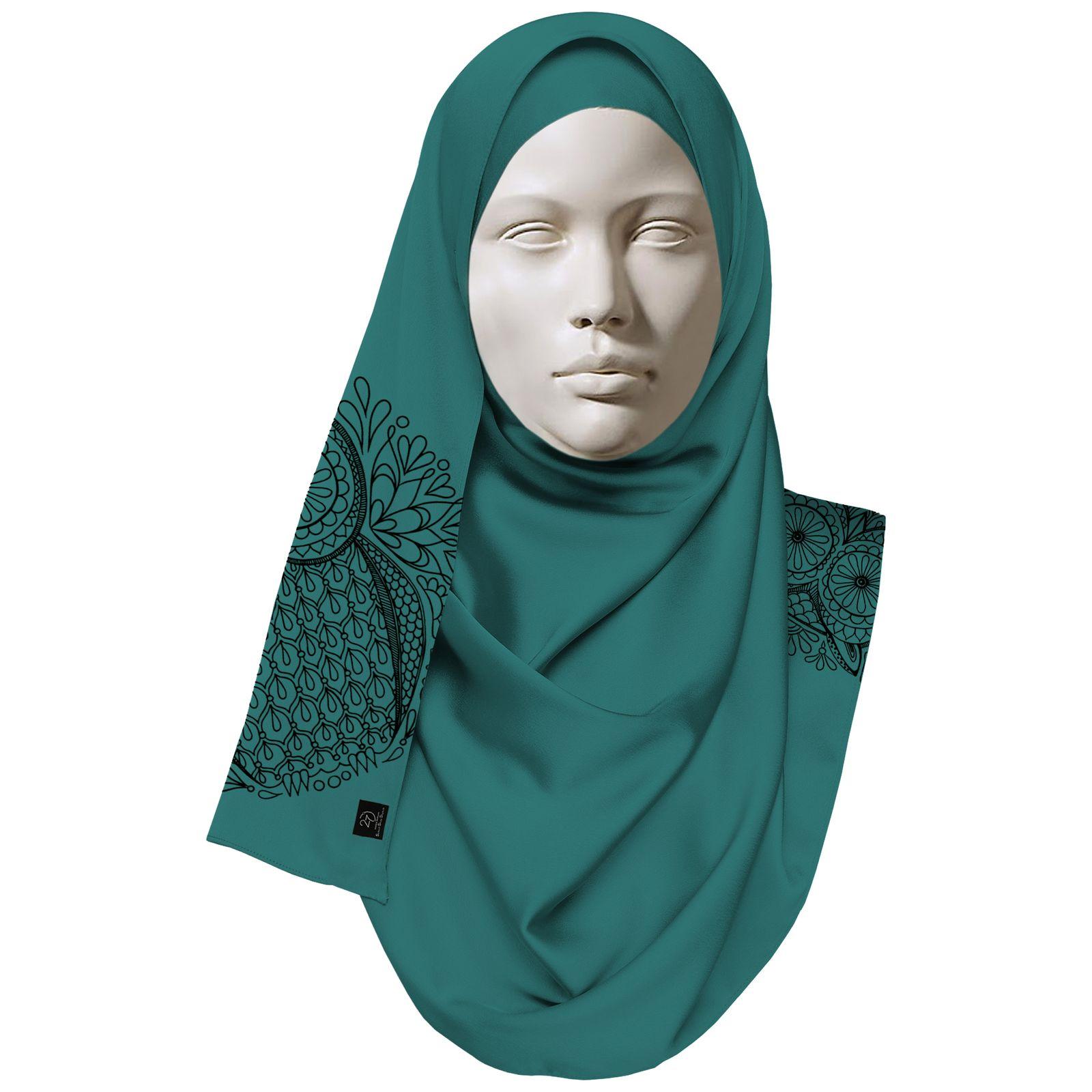 روسری زنانه 27 طرح جغد کد H07 -  - 4