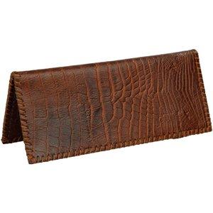 کیف دسته چک چرم طبیعی بز