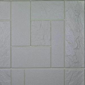 دیوارپوش فومی طرح سنگ روس سفید کد M اندازه 71x77
