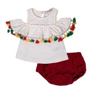 ست تی شرت و شورت نوزادی دخترانه فیورلا مدل 21013