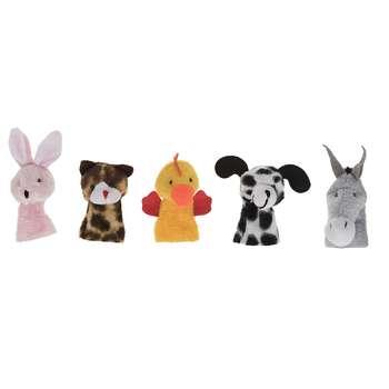 عروسک انگشتی شادی رویان مدل حیوانات مزرعه بسته 5 عددی
