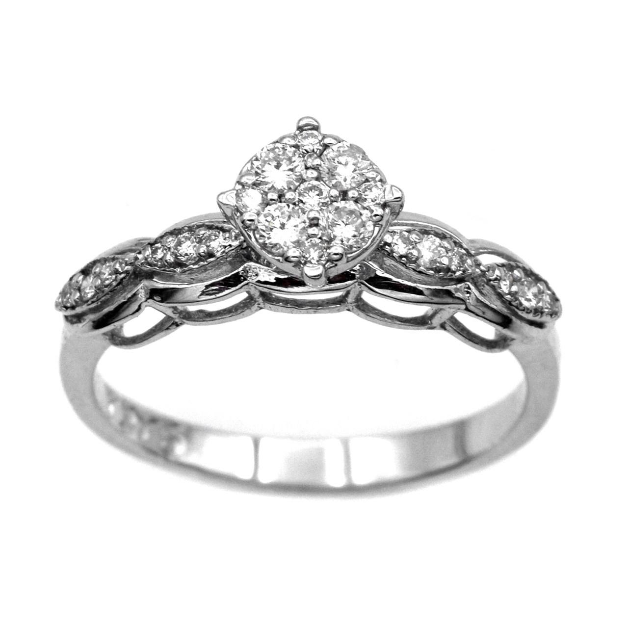 انگشتر طلا 18 عیار جواهری سون مدل 2294