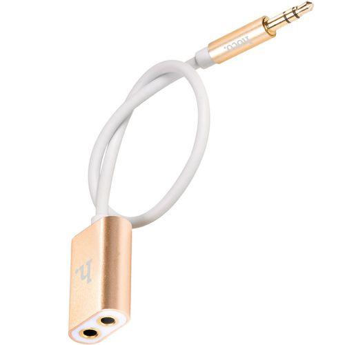 کابل انتقال صدا 3.5 میلی متری هوکو مدل UA1 1 In 2 به طول 0.2 متر