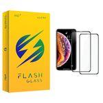 محافظ صفحه نمایش فلش مدل +HD مناسب برای گوشی موبایل اپل iPhone X/XS بسته 2 عددی