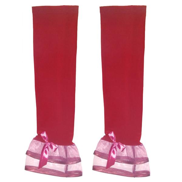 ساق دست زنانه مدل الیزابت رنگ قرمز
