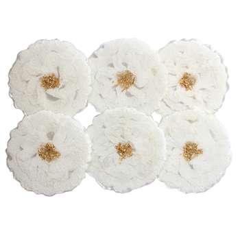 زیر لیوانی مدل گل بسته 6 عددی
