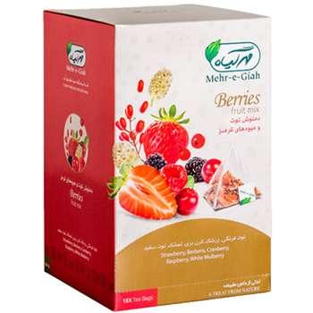 دمنوش میوه های قرمز مهر گیاه مدل Berries بسته 18 عددی