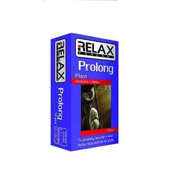 کاندوم تاخیری ریلکس مدل PROLONG PLAIN کد R33 بسته 12 عددی