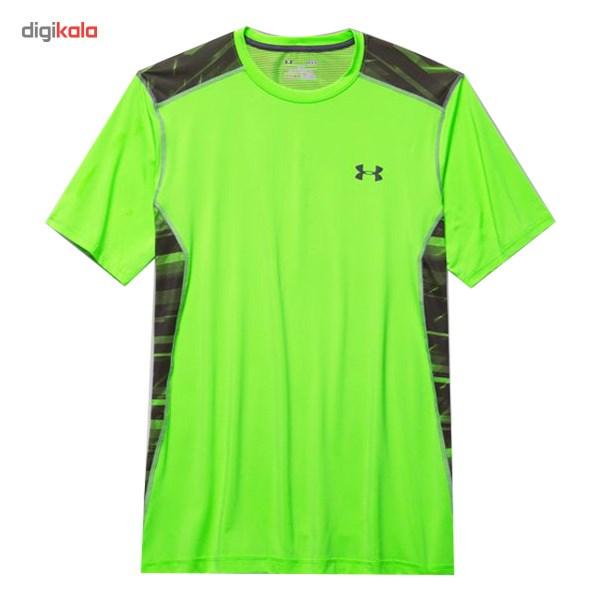 تی شرت مردانه آندر آرمور مدل UA Heatgear Printed Compression