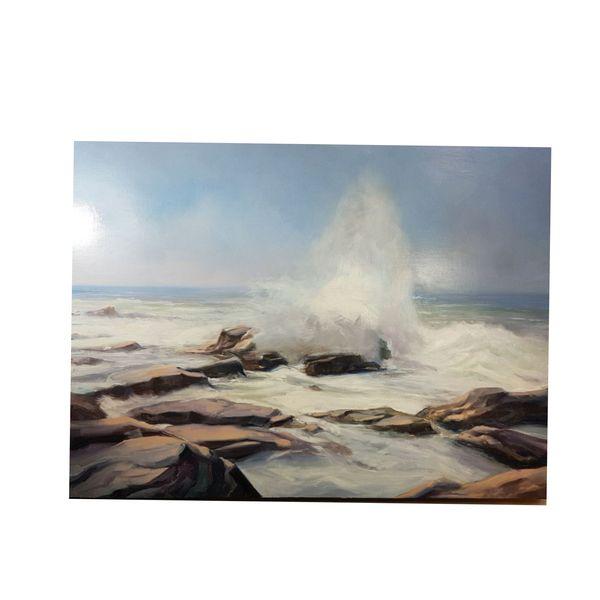 تابلو نقاشی رنگ روغن مدل امواج کد ۲۴
