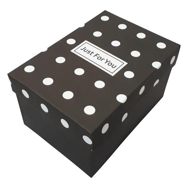 جعبه هدیه طرح خالخالی مدل Just for you کد 70630