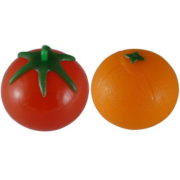 توپ بازی ضد استرس مدل Tangerine And Tomato مجموعه دو عددی
