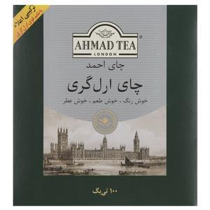 چای کیسه ای احمد مدل Earl Gray بسته 100 عددی