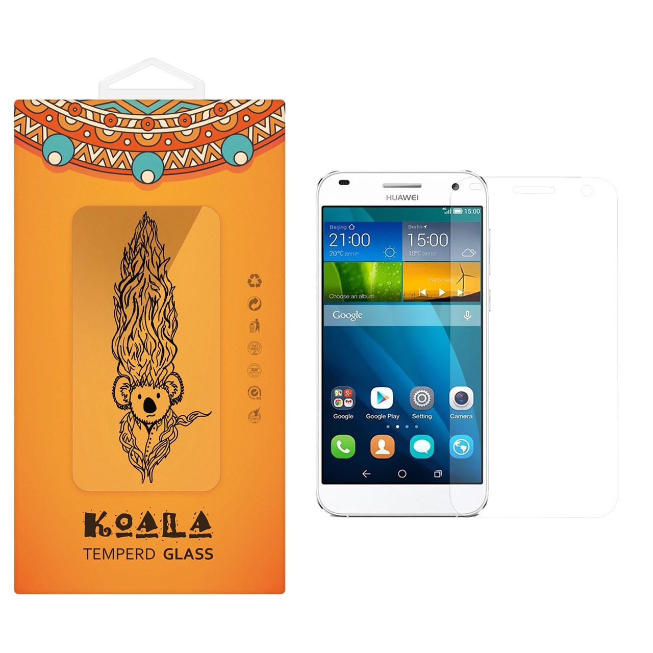 محافظ صفحه نمایش شیشه ای کوالا مدل Tempered مناسب برای گوشی موبایل هوآوی Ascend G7