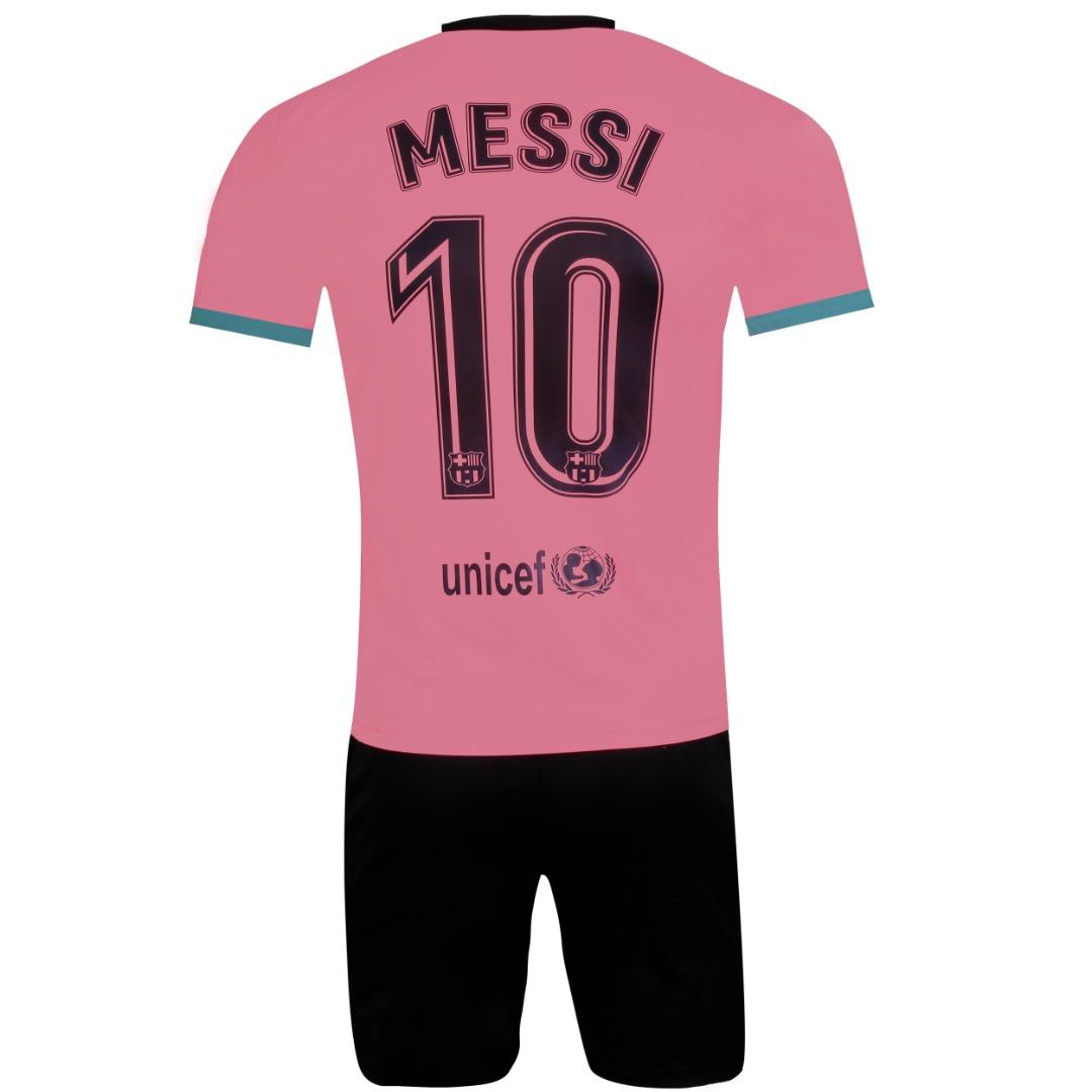 ست 4 تکه لباس ورزشی پسرانه طرح بارسلونا مدل مسی کد 2021 3RD main 1 2