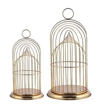 جاشمعی مدل گلاره طرح قفس پرنده مجموعه 2 عددی