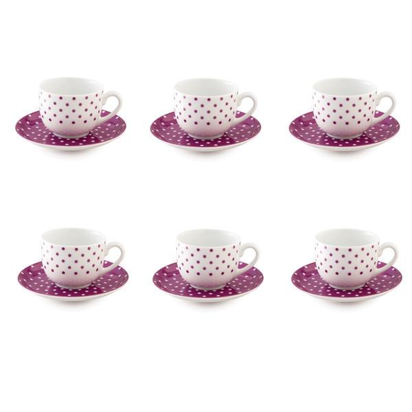 سرویس چای خوری 12 پارچه چینی زرین ایران مدل اسپاتی درجه عالی