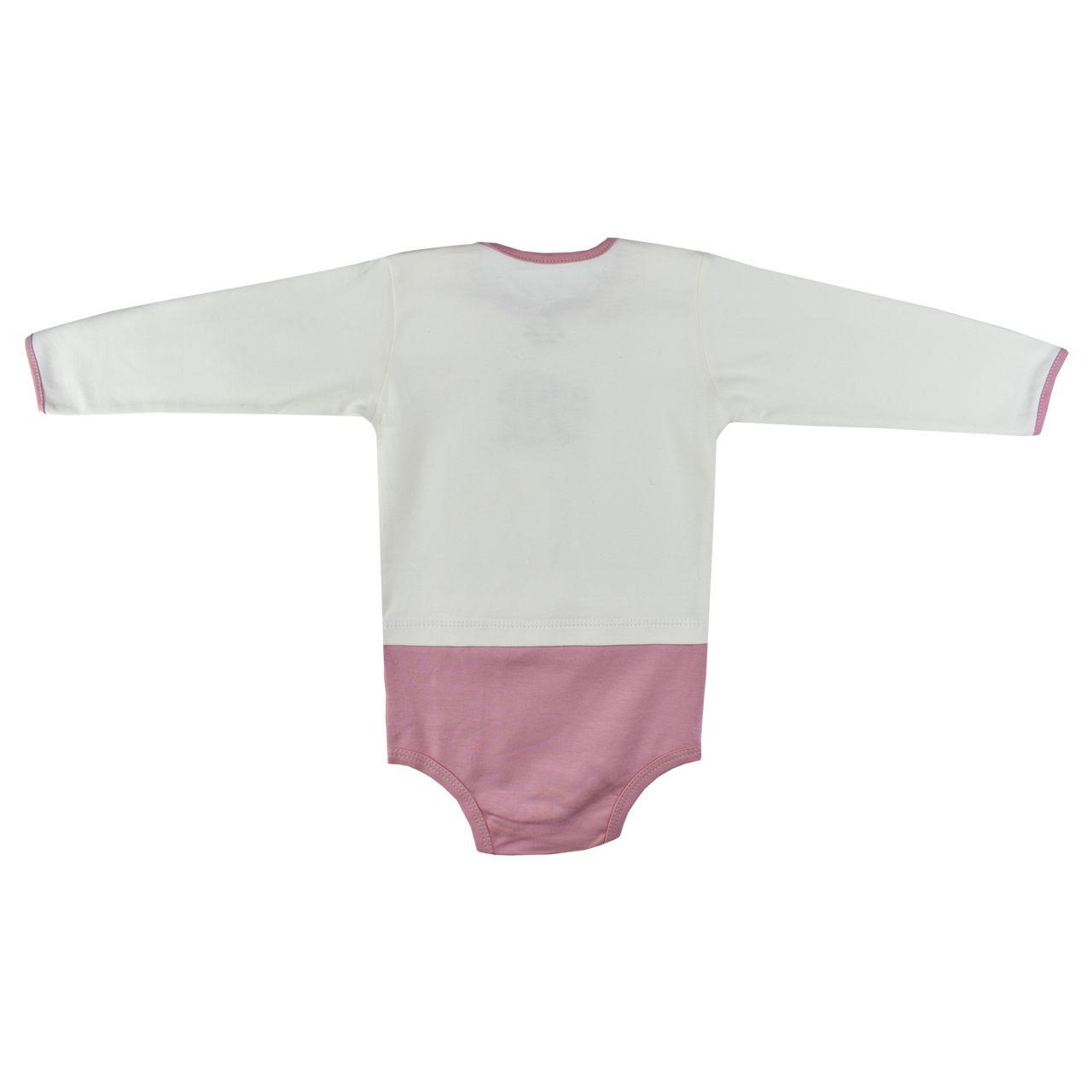 بادی نوزادی دخترانه نیروان طرح گل -  - 3