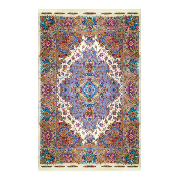 فرش دستباف شش متری مدل لچک ترنج کد 1021