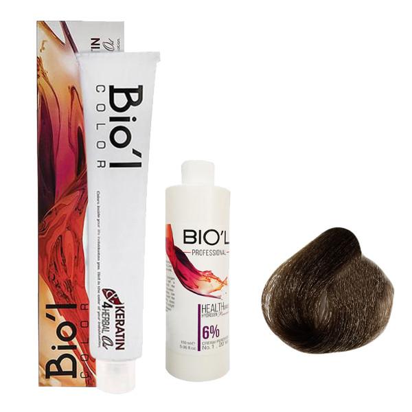 کیت رنگ مو بیول سری NATURAL شماره 4.0 حجم 100 میلی لیتر رنگ قهوه ای متوسط