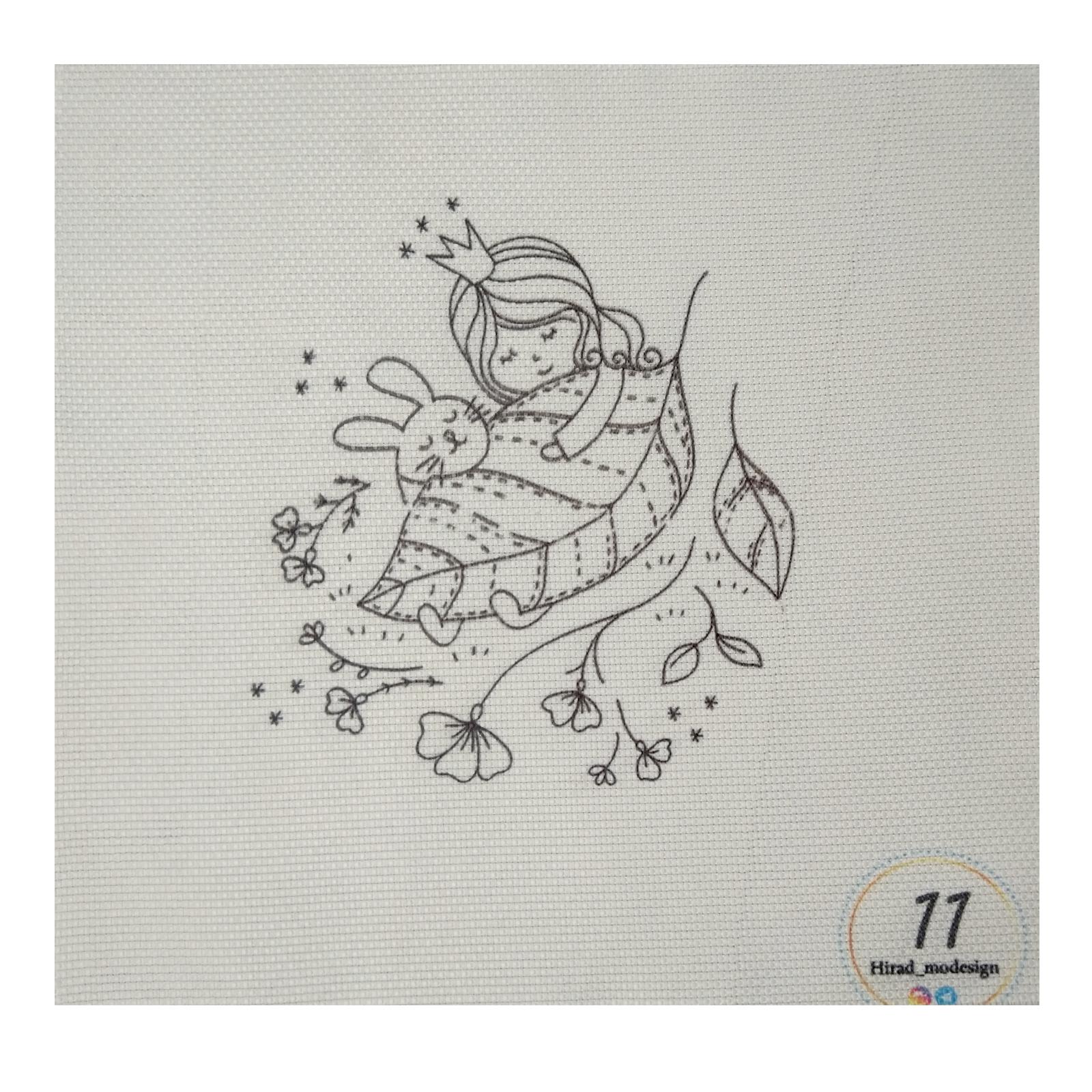 خرید                      بسته گلدوزی طرح دخترک در خواب مجموعه 12 عددی