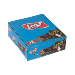 ویفر کاکائویی کوپا با طعم نارگیل - 40 گرم بسته 12 عددی
