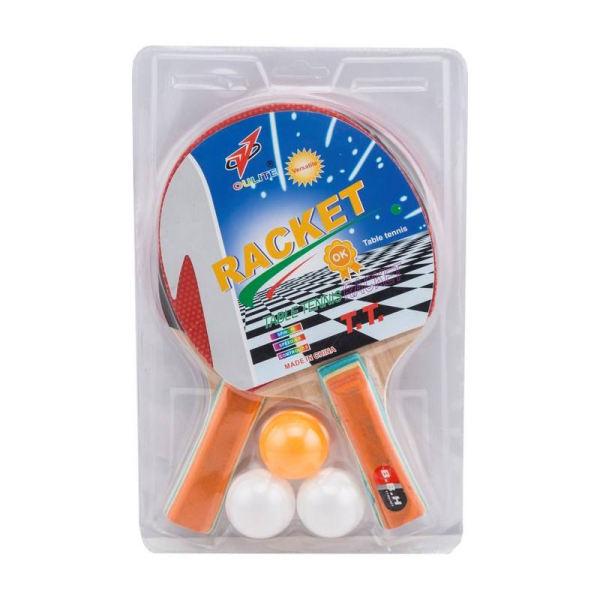 راکت پینگ پنگ اولایت کد ۱ بسته 2 عددی به همراه توپ