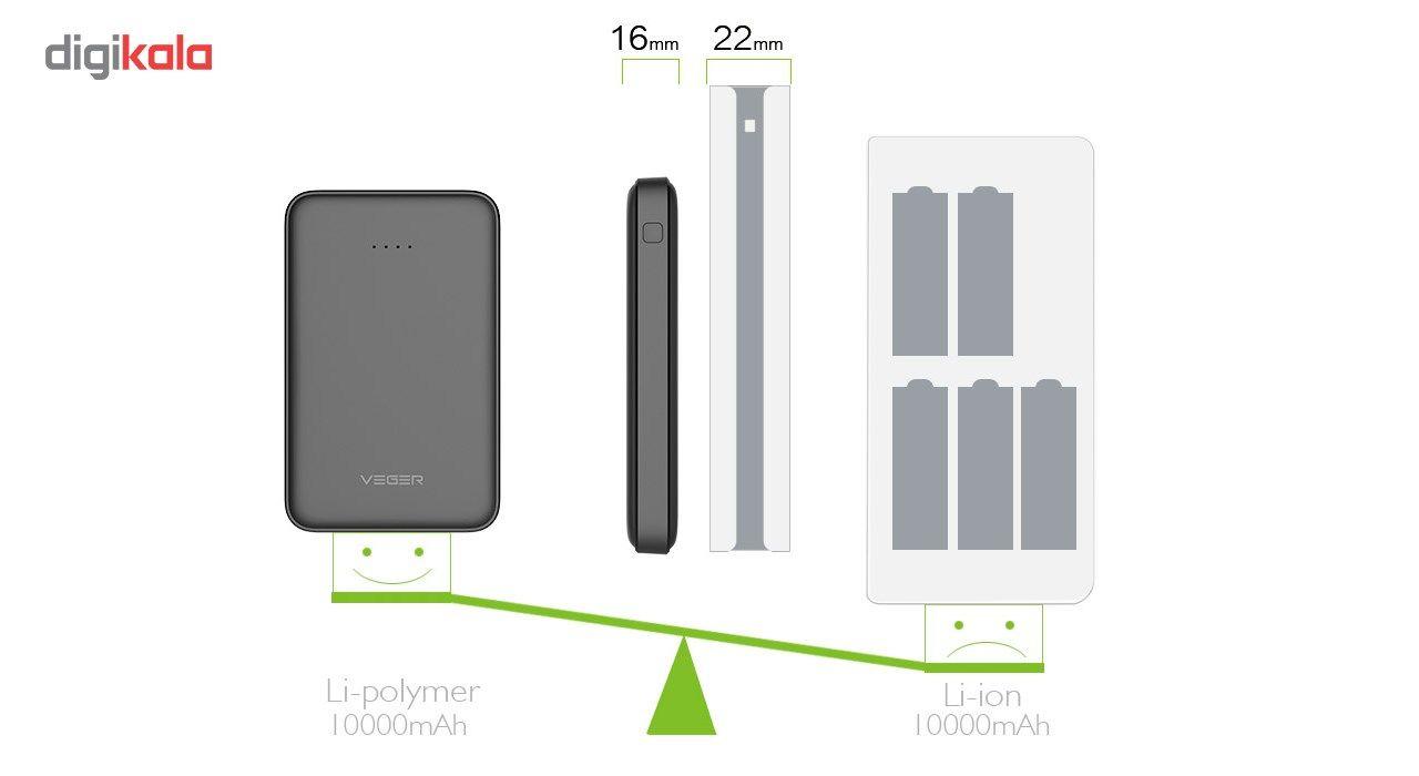 شارژر همراه وگر مدل VP-1018 ظرفیت 10000 میلی آمپر ساعت(وگر اورجینال) main 1 5