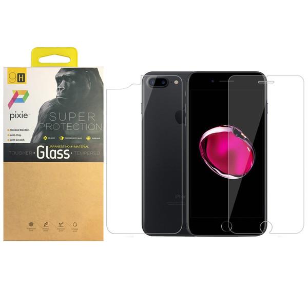 محافظ صفحه نمایش و پشت تمام چسب شیشه ای  پیکسی مدل Top Clear مناسب برای گوشی اپل آیفون 8/7 پلاس