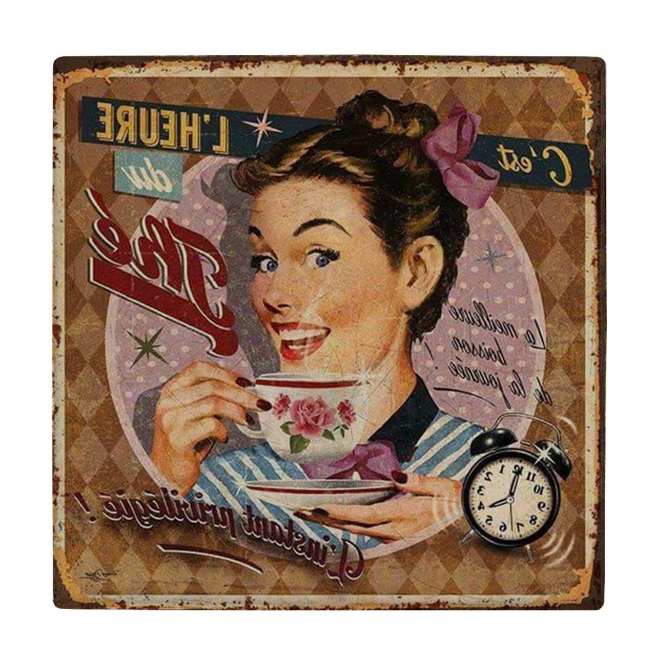 خرید                      کاشی طرح فنجان چای کد wk632