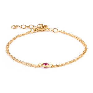 دستبند طلا 18 عیار زنانه ریسه گالری مدل D-1002G