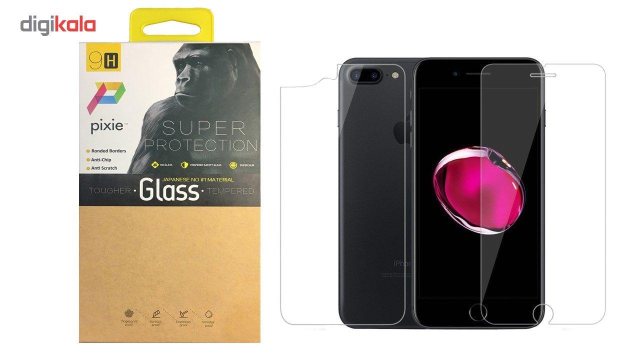 محافظ صفحه نمایش و پشت تمام چسب شیشه ای  پیکسی مدل Top Clear مناسب برای گوشی اپل آیفون 8/7 پلاس main 1 1