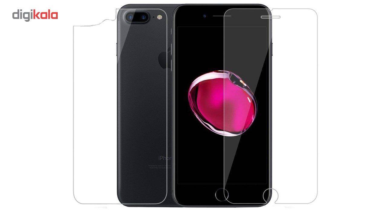 محافظ صفحه نمایش و پشت تمام چسب شیشه ای  پیکسی مدل Top Clear مناسب برای گوشی اپل آیفون 8/7 پلاس main 1 2