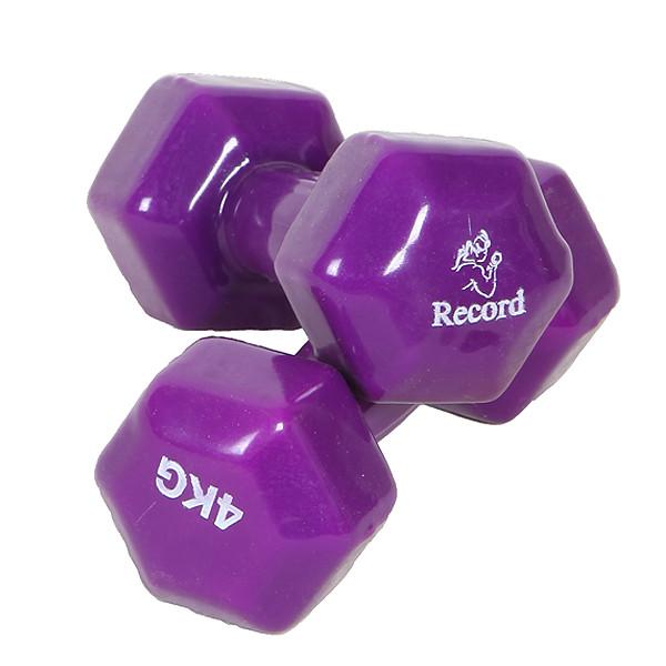دمبل رکورد مدل A وزن 4 کیلوگرمی بسته 2 عددی