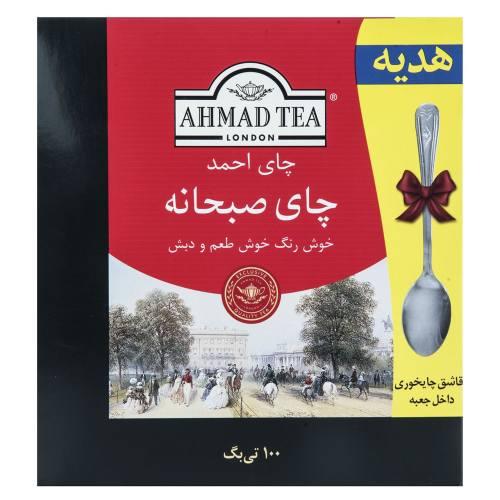 چای کیسه ای احمد مدل Breakfast بسته 100 عددی