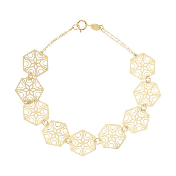 دستبند طلا 18 عیار زنانه کانیار گالری مدل DG3